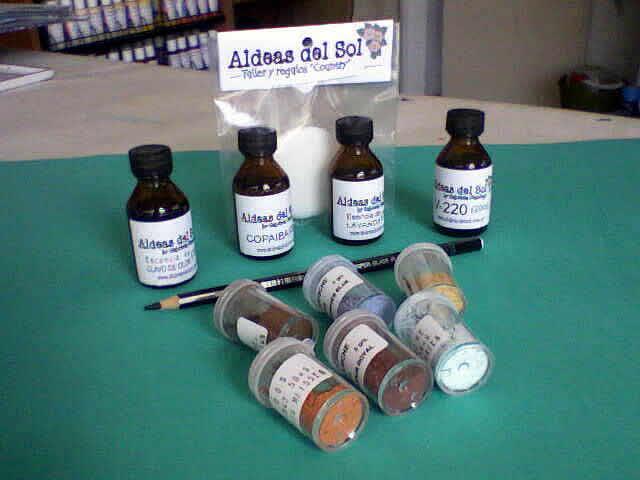 Aldeas del Sol - Pigmentos y aceites para porcelana