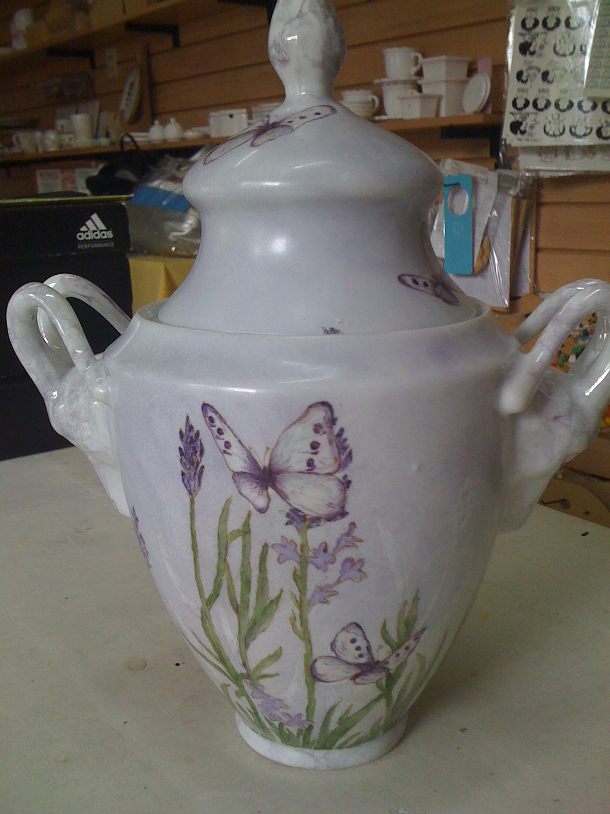 Flora Montevidoni- pintura en porcelana