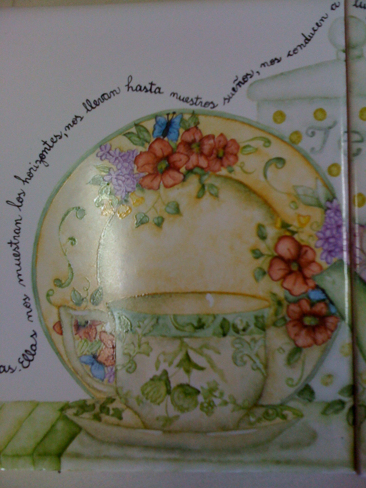 Patricia Frigeriol-Pintura en porcelana