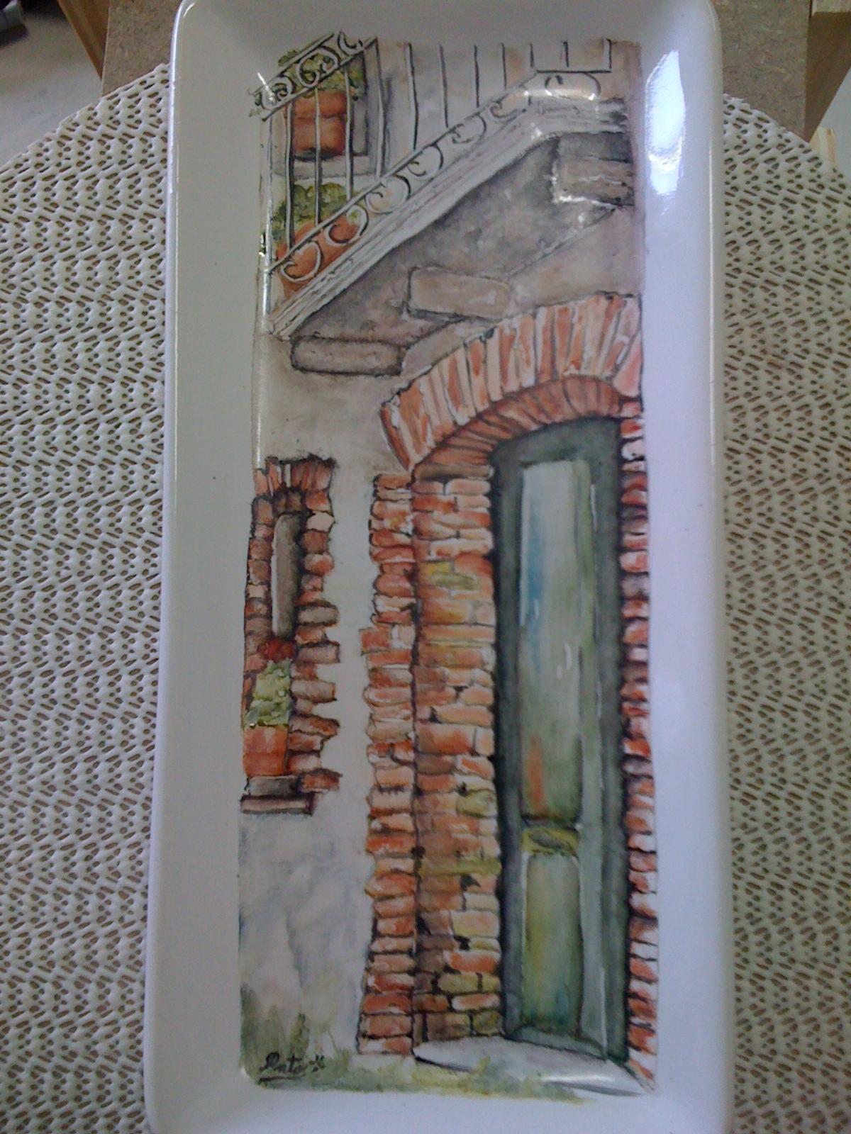 Patricia Frigerio-pintura en porcelna